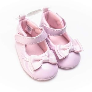 Gerber Baby Girl Crib Shoes Size 3=6-9m